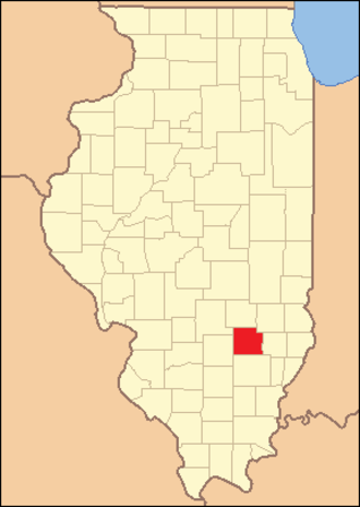 Clay County, Illinois - Image: Clay County Illinois 1841