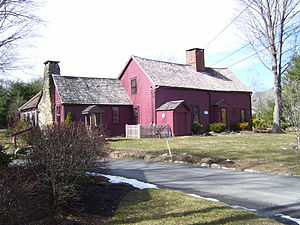 East Greenwich, Rhode Island - Clement Weaver House, a historic stone ender, built 1679, is one of the oldest homes in Rhode Island.