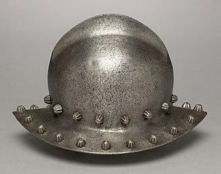 Kettle hat Steel helmet in the shape of a brimmed hat