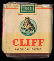 Cliff cigarettes pack, front.JPG