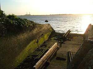 Brennan torpedo - The remains of the Brennan torpedo launch tracks at Cliffe Fort