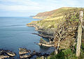 Cliffhanging, near Urdd Centre - geograph.org.uk - 579585.jpg