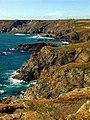 Cliffs north of Lizard Head - geograph.org.uk - 218974.jpg