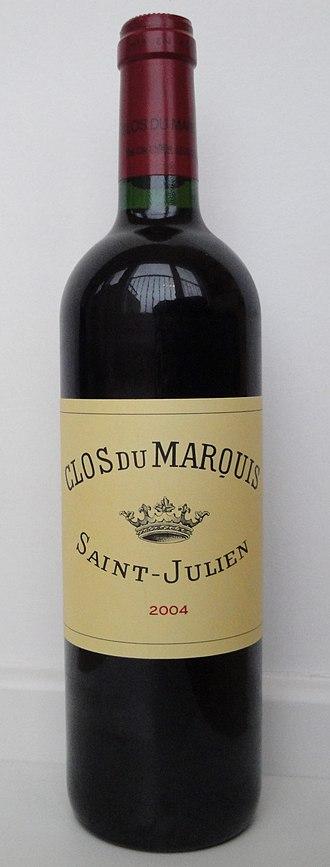 Château Léoville-Las Cases - A bottle of 2004 Clos du Marquis.