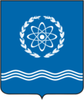 Coat of Arms of Obninsk (Kaluga oblast) proposal (2003 N2).png