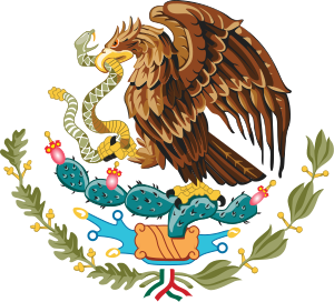 Coat of arms of Mexico.
