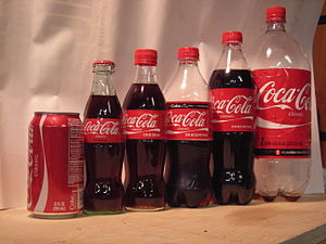 The various sizes of Coca-Cola available in th...