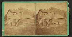 Metallurgical assay - Stereoscopic view – Colorado assay office – circa 1870