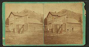 Metallurgical assay - Stereoscopic view – Colorado assay office – circa 1870