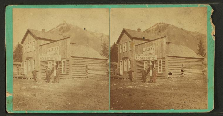 Colorado Assay Office, from Robert N. Dennis collection of stereoscopic views