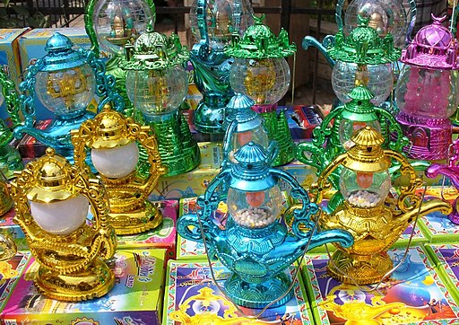 Colorful plastic ramadan lanterns
