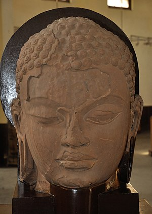 Gupta Empire - Head of Tirthankara, Mathura Museum