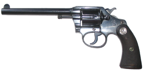 Colt Police Positive - Blued Colt Police Positive revolver; six inch barrel