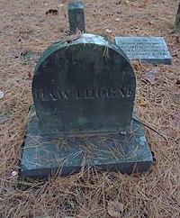 Concord Massachusetts gravesite of Nathaniel Hawthorne.JPG