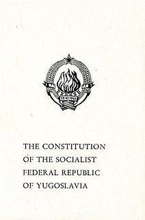 constitution from 1974 in Yugoslavia