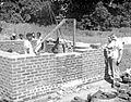 Construction, Satbarwa, India, 1961 (16937314952).jpg
