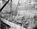 Construction of the foundation at Smith Tower construction site, Seattle, Washington, January 20, 1912 (SEATTLE 4847).jpg