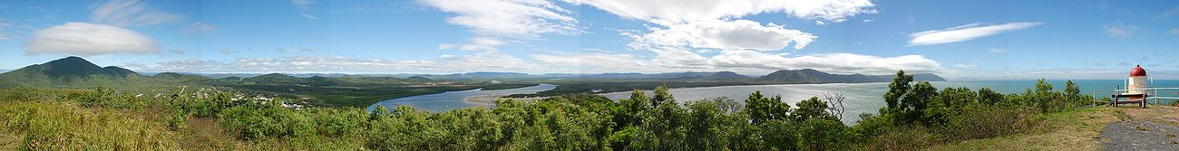 Panorama from Grassy Hill, Cooktown. Photo: Peter Campbell, 23 June 2007