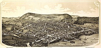 Cooperstown, New York - Cooperstown depicted on an 1890 panoramic map