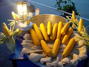 Corn on the cob - Cooking corn on the cob by boiling