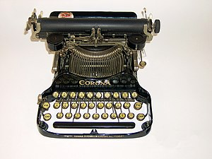 Corona portable typewriter with Cyrillic letters