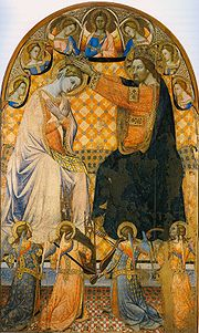 Coronation of Virgin Jacopo di mino Montepulciano