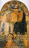 Coronation of Virgin Jacopo di mino Montepulciano
