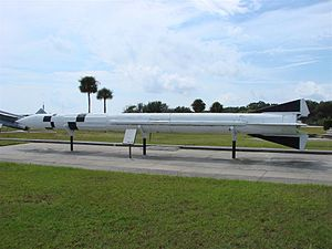 MGM-5 Corporal - Corporal field artillery missile at Cape Canaveral, Florida, the Air Force Space & Missile Museum