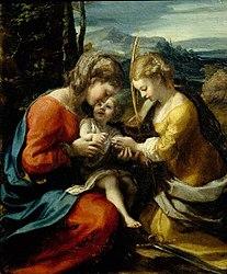 Κορρέτζο: The Mystical Marriage of St. Catherine