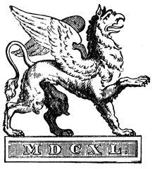 Der Greif, Verlagszeichen seit 1839 (Quelle: Wikimedia)