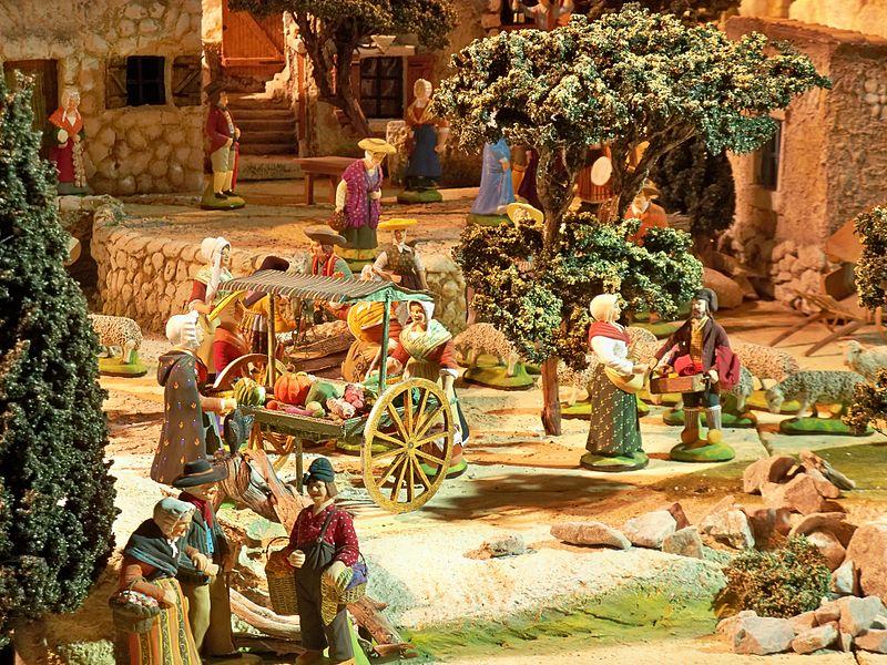 Santons et crèches de Noël  - Page 4 800px-Cr%C3%A8che_-_Maraichers
