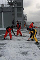 Crew of HMNZS WELLINGTON clear the ice off the flight deck - Flickr - NZ Defence Force.jpg