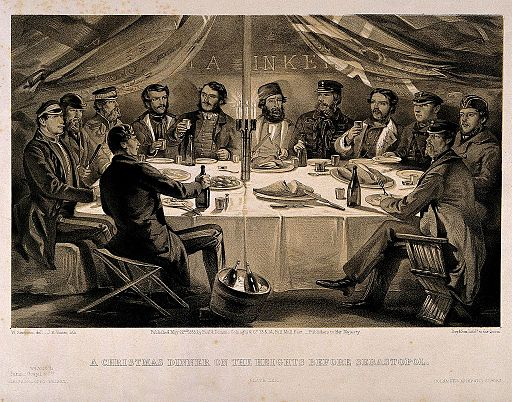 Crimean War, Sebastopol; Christmas Dinner before the Battle Wellcome V0015439
