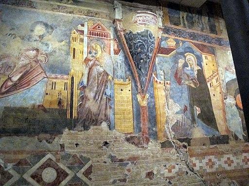 Cripta del Duomo di Siena, Annunciazione e Visitazione, 1280 circa
