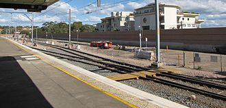 Eastern Suburbs & Illawarra Line - The double length platform on Cronulla station was built to cope with large holiday crowds. The platform was originally designed to accommodate five trains