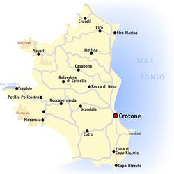 Cartina Geografica Cosenza E Provincia.Provincia Di Crotone Wikipedia