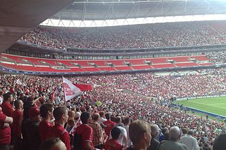 Ebbsfleet United F.C. - Part of the crowd at Wembley for the 2007–08 FA Trophy Final in May 2008