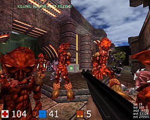 Cube (video game) - A screenshot from the game Cube (2007).