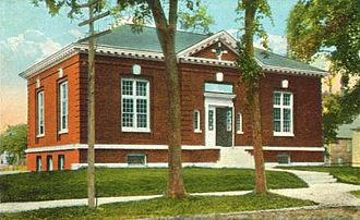 Brunswick, Maine - Curtis Memorial Library c. 1915