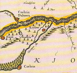Czehryn, de Jan Jansson, ĉirkaŭ 1663.jpg