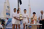 Dériveurs 18 pieds australiens au Salon Nautique International à Flot de La Rochelle 1987 (26).jpg