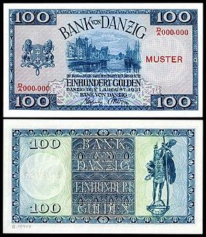 DAN-62-Bank von Danzig-100 Gulden (1931, specimen)