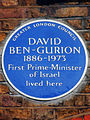 DAVID BEN-GURION 1886-1973 First Prime-Minister of Israel lived here.jpg