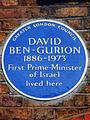 DAVID BEN-GURION 1886-1973 First Prime-Minister of Israel lived here.jpg