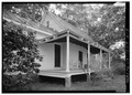 DETAIL SHOWING PORCH ALONG EAST SIDE - Kenmuir, Ragland House, Route 613, Trevilians, Louisa County, VA HABS VA,55-TREV.V,8A-6.tif