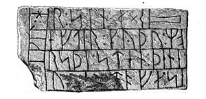 Danish Runic Inscription 48 - Image: DR 48, Hanning