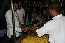 Daily Free Prasadam Distribution at ISKCON Juhu