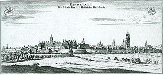 Darmstadt - Darmstadt in 1626.