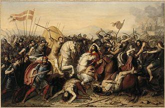 Battle of Saucourt-en-Vimeu - Battle of Saucourt-en-Vimeu, as depicted by Jean-Joseph Dassy