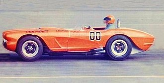 Dave MacDonald - Dave MacDonald in Riverside Raceway win driving his custom No. 00 Corvette Special - March 1962